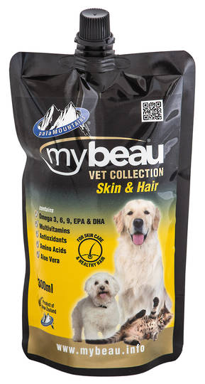 Mybeau Vet collection For Skin Care and a Healthy Coat in Cats & Dogs 300ml Pouch