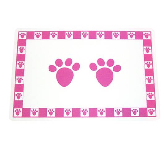 Feed Mats Pet Paws Placemat Pink