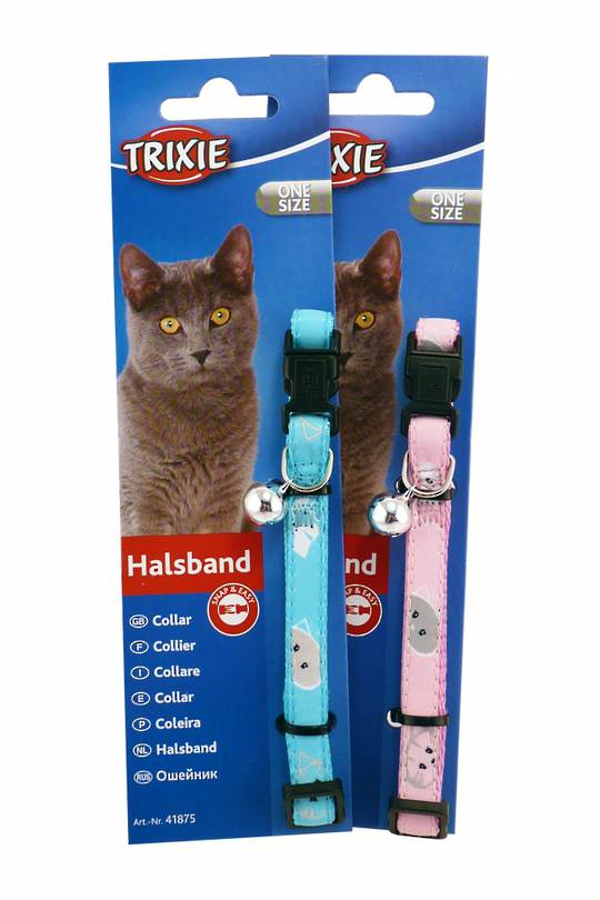 Trixie Cat Collar - Mimi (Blue or Pink)