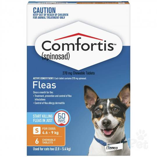 Comfortis Chewable Flea Treatment for Small Dogs & Cats (Orange / 6 chewables)