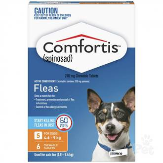 Comfortis Chewable Flea Treatment for Small Dogs & Cats (6 pack) 35g
