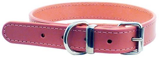Leather Stitched Collar Pink (23mm x 50cm)