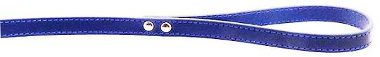 Leather Stitched Lead Blue (16mm x 100cm)