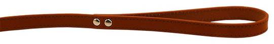 Leather Stitched Lead Cognac (13mm x 100cm)