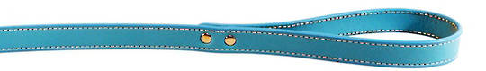 Leather Stitched Lead Aqua (16mm x 100cm)