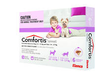 Comfortis Chewable Flea Treatment for Kittens, Small Cats, Puppy and Small Dogs (6) 35g