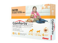 Comfortis Chewable Flea Treatment for Medium Cats and Small Dogs (6) 35g