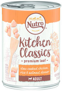 NUTRO Adult Dog Slow Cooked Chicken, Brown Rice & Oatmeal Dinner 355g