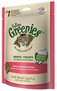 Greenies Dental Cat Treats Savoury Salmon 71g