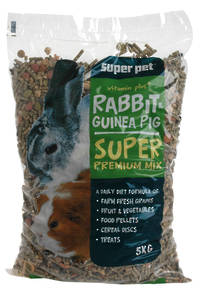 Rabbit & Guinea Pig Food / Super Prenium Diet 5Kg