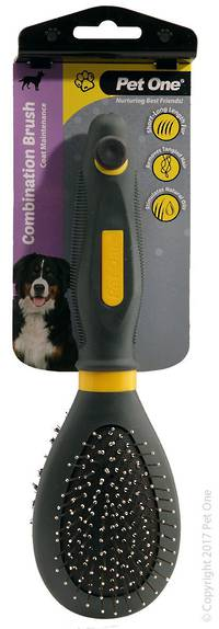 Pet One Combination Bristle & Metal Pin Brush (L)