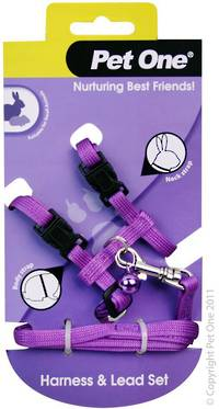 Pet One Leash & Harness for Rabbits and Guinea Pigs Purple