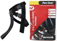 Pet One Car Safety Harness Two in One L