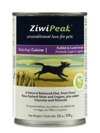 ZiwiPeak Daily Dog Moist Rabbit & Lamb Cuisine 370g