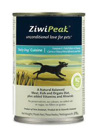 ZiwiPeak Daily Dog Moist Venison & Fish Cuisine 370g
