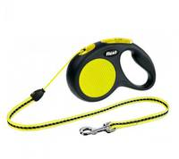 Flexi New Classic Neon Cord Retractable Leash 5m (S) Dogs uo to max 12kg