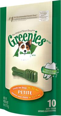 Greenies Canine Mini Treats for Petite Dogs 170g / 10 Dental Chews