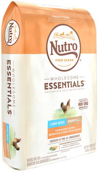 NUTRO Wholesome EssentialLarge Breed Puppy - Chicken, Whole Brown Rice & Sweet Potato Recipe - 13.61kg