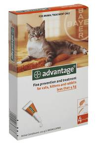 Advantage Spot-on Flea Treatment for Cats, Kittens and Rabbits Up to 4kg (4)
