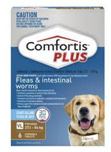Comfortis Plus Chewable Flea  & Worm Treatment for Very Large Dogs (6 pack) (35g)