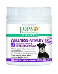 Blackmores Wellness + Vitality Multivitamin and Wholefood Chews 300g