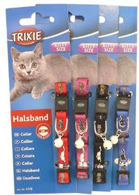 Trixie Kitten Collar with Motif (Red, Pink, Black or Blue)