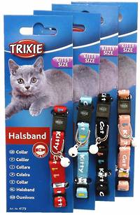 Trixie Kitten Collar - Kitty Cat (Red, Pink, Black or Blue)