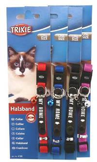 Trixie Cat Collar - My Home (Red, Blue, Black or Purple)