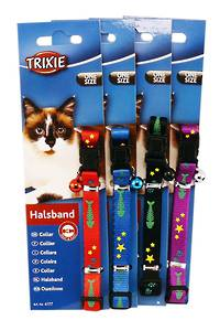 Trixie Cat Collar - Fishbone  (Red, Blue, Black or Purple)