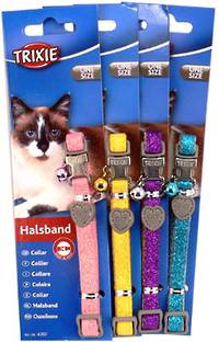 Trixie Cat Collar - Glitter (Pink, Yellow, Purple or Blue)