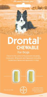 Drontal Chewable for Dogs (5-10kg) 2chews