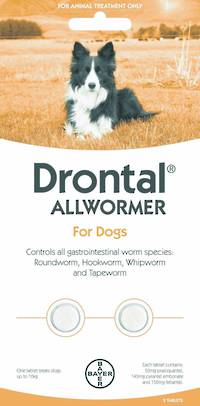Drontal Allwormer Tablet for Dogs (5 - 10kg) 2tablets