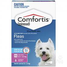 Comfortis Chewable Flea Treatment for Kittens, Small Cats, Puppy and Small Dogs (6 pack) 35g